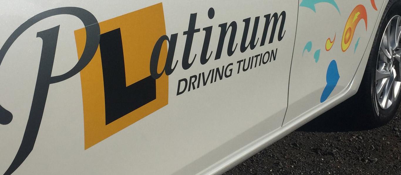 platinum driving car