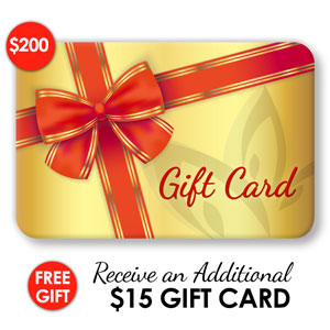 $200 Gift Card + FREE GIFT ($15)
