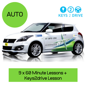 """<p><span style=""""font-size: 18pt;"""">* Must be eligible for Keys2Drive lesson</span></p> <p><span style=""""font-size: 18pt;"""">*Not Available on the Gold Coast</span></p> <h1 class=""""page-title"""">Eligibility Requirements</h1> <ul> <li> <p>The learner driver must hold an Australian learners permit</p> </li> <li> <p>The learner drivers fully licenced supervising driver (normally mum, dad, family member or a friend) must attend the entire 60 minute Keys2drive free lesson</p> </li> <li> <p>Overseas licence holders upgrading to an Australian licence are not eligible for a Keys2drive free lesson</p> </li> <li> <p>If you have held a full drivers licence in Australia or overseas, then you are not eligible for the Keys2drive free lesson</p> </li> <li> <p>If a learner driver's supervising driver holds a full international licence they may attend the free lesson with their learner. However we strongly recommend checking with your states licencing authority to ensure you are legally allowed to supervise a learner driver in Australia or you may risk prosecution.</p> </li> <li> <p>P Plate drivers upgrading from automatic to manual are not eligible for a Keys2drive free lesson</p> </li> </ul> <p>Please register at https://keys2drive.com.au/ before you purchase voucher to ensure your eligible for keys 2 drive lesson</p> <p>Your voucher includes:</p> <ol class=""""voucher-list""""> <li class=""""voucher-list""""> 9 x 1 hour lessons plus 1 hour Keys 2 Drive Lesson with a qualified instructor in a driving school vehicle</li> <li class=""""voucher-list"""">Can be taken as any combination eg(4 x 2 hour and 2 x 1 hour lessons = 10 hours call the office to arrange)</li> <li class=""""voucher-list"""">Pick up from home</li> <li class=""""voucher-list"""">Return to home work or close location</li> <li class=""""voucher-list"""">Valid for 12 months from date of purchase</li> </ol>"""