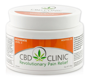 <p></p> <ul> <li>Cream Base</li> <li>75mg CBD per 44g Jar</li> </ul> <p></p> <p>CBD CLINIC Level 3 will attack pain quickly and increase blood flow to areas where you are experiencing moderate discomfort. Fast acting cream with Menthol penetrates deeply to target the source of your muscle and joint irritation. Absorbs quickly and easily to end the tenderness experienced with common muscle and joint pain.</p> <p></p> <h5><em><strong>Active Ingredient:</strong></em> Menthol 4% – Topical Analgesic</h5> <h5><strong><em>Inactive Ingredients</em></strong>: Beeswax (organic), clove oil, cotton seed oil, emulsifying wax, eucalyptus oil, hemp extract, jojoba seed oil, peppermint oil, purified water, shea butter, sorbic acid, tea tree oil</h5>