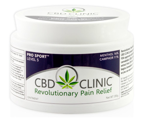 <ul> <li>Ointment Base</li> <li>200 mg CBD per 44g Jar</li> </ul> <p></p> <p>CBD CLINIC Level 5 ointment delivers two of the highest potency pain killers, as well as, full spectrum CBD to the most severe of pain areas. It helps restore your range of motion and regain the mobility necessary for daily activities or top athletic performance.</p> <p>CBD Clinic Level 5 is excellent for joint pain, nerve pain, muscle pain, low back pain, knee pain, shoulder pain, neck pain, etc. It also helps to regain flexibility, range of motion and helps to speed recovery for fatigued and painful joints and muscles. A perfect pre and post workout solution for hours of relief.</p> <h5><strong><em>Active Ingredients:</em></strong> 16% Menthol, 11% Camphor – Topical Analgesics</h5> <h5></h5> <h5><em><strong>Inactive Ingredients:</strong></em> Beeswax (organic), clove oil,cotton seedoil, eucalyptus oil, hemp extract, jojoba seed oil, peppermint oil, tea tree oil</h5>