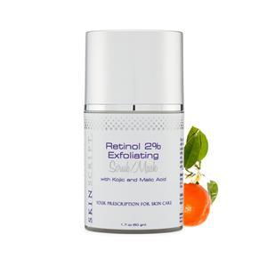 """<ul> <li>Retinol products can help visibly diminish the look of fine lines and wrinkles</li> <li>Increase firmness</li> <li>Improve uneven skin tone</li> <li>Smooth and refine the surface of skin</li> <li>Help lessen the effects of environmental stressors</li> </ul> <p></p> <p>This scrub is a powerful cellular turnover scrub with Retinol (Vitamin A) and jojoba beads to clean, soothe and polish the skin. The retinol encourages the breakup of blackheads and clogged pores, jojoba beads gently exfoliate dead skin cells, while kojic lightens age spots and blemishes left from scars. The dual action physical and chemical exfoliation in this product makes it a must-have for all skin types- even rosacea and sensitive skin!<br /><br />This product is also a favorite among male clients as well. It aids in the prevention of ingrown hairs caused by shaving. Use 2-3 times per week to prevent and treat ingrown hairs.<br /><br />For a quick at home """"mini treatment"""" for both men and women, place a layer of our Glycolic Cleanser on the skin. Massage it in for 60 seconds, then add a layer of the Retinol Scrub. Let it sit for 5-7 minutes (in the shower with steam is best) then rinse off.</p>"""