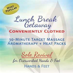 <p>Includes:</p> <p>Aromatherapy</p> <p>Heat Packs</p> <p>Hands & Feet Massage</p>