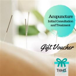 Acupuncture Initial Consultation