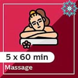 5 x 60 min Massage Pack