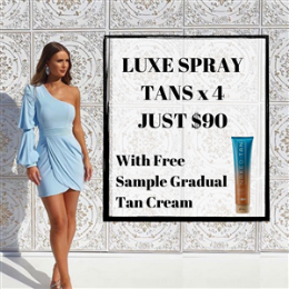 Luxe Spray Tan x 4 Package