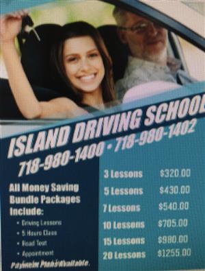 <p>This Package Includes:</p> <ul> <li>5 (1 Hour) Lessons</li> <li>5 Hour Class</li> <li>Road Test Appointment</li> <li>Car for the Road Test</li> </ul>