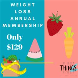 Weight Loss Annual Membership