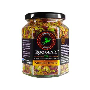 <p>Many of us are living an overindulgent lifestyle, whether we are working hard and feeling stressed, having one too many glasses of wine or feeling bloated after a big meal, the Roogenic Super Detox Tea is the effortless way to restore balance in your life and reclaim the best version of yourself.<br />The antiseptic (anti-bacterial) properties of the Lemon Myrtle within this tea can assist in maintaining the balance between bad bacteria and good bacteria (probiotics) in our digestive system. Helping you to restore balance in your body and life. In doing so the tea accommodates and supports the different processes accruing in the body during detoxification – so you feel great throughout the cleansing process.<br />Delicious as a hot tea, or an iced tea, the Roogenic Super Detox Tea is the perfect addition to your water intake, and it is the straightforward way to restore balance.</p> <p>Ingredients: Organically Grown Lemon Myrtle, Organic Hibiscus, Organic Ginger, Beetroot, Organic Mint.</p> <p>&nbsp;</p>