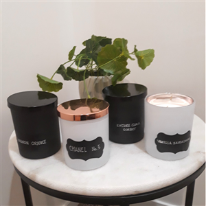 <p>Beautiful locally made designer soy candles in delicious aromas including; -Cinnamon Orange -Lychee Guava Sorbet -Vanilla Sandalwood -Chanel No 5 -Musk Stix -and many more</p>