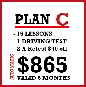 15 x Auto Lessons + 1 Lic Test and 2 Re-test 50% Off.