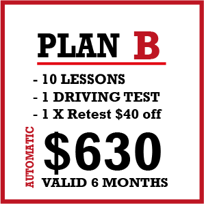 10 x Auto Lessons + 1 Lic Test and 1 Re-test 50% Off.