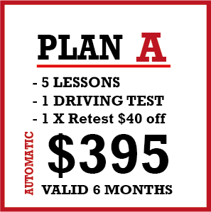 5 x Auto Lessons + 1 Lic Test and 1 Re-test 50% off