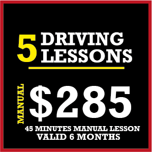 5 x Manual Lessons/ 45mins (Without Tests)