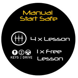 Manual Start Safe Package - 4.5hr Lessons + Keys2Drive