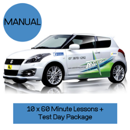 10 Manual Lessons + Test Day Package