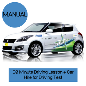 """<p>Book your own test or call our office 1300 42 12 42 for help with your test at Qld transport.</p> <p>Please allow 2.5 hours for this package.</p> <p style=""""text-align: left;"""">Your voucher includes:</p> <ol class=""""voucher-list""""> <li class=""""voucher-list"""" style=""""text-align: left;"""">Pick up from home</li> <li class=""""voucher-list"""" style=""""text-align: left;"""">One hour pre test lesson</li> <li class=""""voucher-list"""" style=""""text-align: left;"""">Assistance with processing of paperwork at Queensland transport</li> <li class=""""voucher-list"""" style=""""text-align: left;"""">Use of driving school vehicle for test</li> <li class=""""voucher-list"""" style=""""text-align: left;"""">Attendance to post test debrief</li> <li class=""""voucher-list"""" style=""""text-align: left;"""">Assistance with licence issue</li> <li class=""""voucher-list"""" style=""""text-align: left;"""">Return home/work or nearby location</li> </ol> <meta charset=""""utf-8"""" /><meta charset=""""utf-8"""" /> <p><strong><em>Please </em></strong><em><b>Note: Early booking is recommendedto secure your preferred Driving Test date and time. Package does not include transport department booking fee ($66.50 payable at time of booking if we make the Test Booking on your behalf)</b></em></p>"""