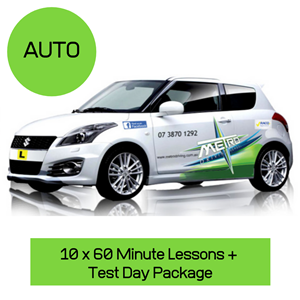 10 Auto Lessons + Test Day Package