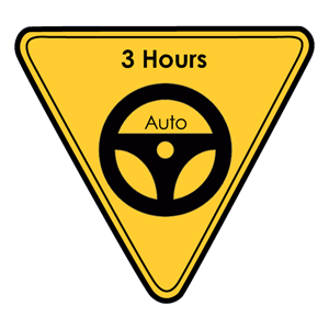 <p>A 3 hour advanced lesson that includes both country and city driving. The lesson includes experience on multi-laned high speed motorways, along with country driving on surfaced and unsurfaced roads. This lesson is only available to Learner drivers with a minimum of 80 Log Book Hours completed.</p>