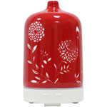 """<p>&nbsp;</p> <p style=""""text-align: center;"""">Ceramic Aromatherapy Diffuser</p> <p style=""""text-align: center;"""">Red</p> <p style=""""text-align: center;"""">Special offer $85, normally $104.44</p> <p>Create calming environment in your special place with the oriental inspired ceramic aromatherapy diffisuer</p> <p>About the product<br />An ultrasonic diffuser negates the positive ions which can be detrimental to our health. These positive ions are present because of electronics, plastic and other polluting chemicals in our environment.<br />No heating element used; gently diffuses essential oils without heat.</p> <p><br />Ceramic cover in a variety of colours; red, blue<br />Continuous or intermittent settings<br />Operates for several hours and automatically turns off when water level is low.<br />For use at home or office<br />BPA free</p>"""