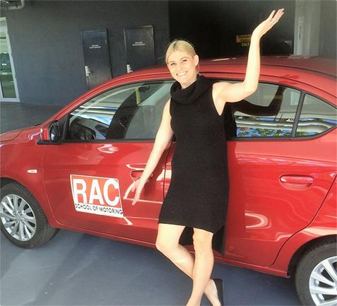 RAC driving school student