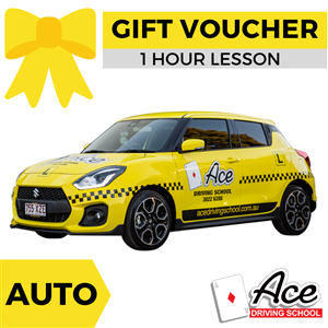 Driving Lesson Gift Voucher 1 Hour - Auto