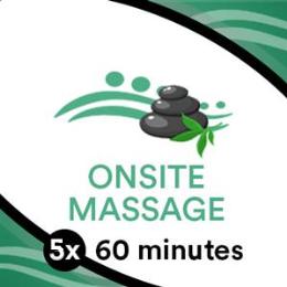 5 x 60 Min Massage Goodlife Gym