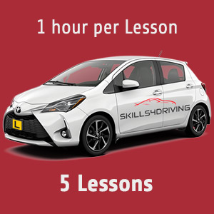 Lesson Package: 5 x 1 hour Lessons at Skills4Driving