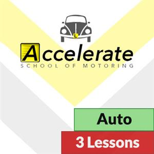 3 x 1 Hour Automatic Lessons at Accelerate School of Motoring