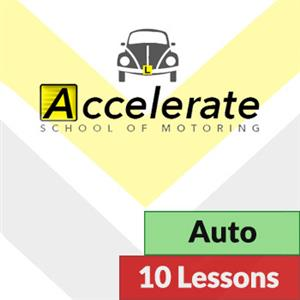 10 x Automatic Lessons at Accelerate School of Motoring