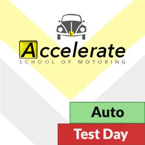 Auto Lessons: Test Day Automatic Package at Accelerate School of Motoring