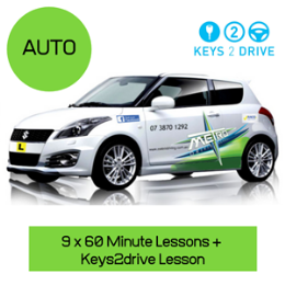 New Student Auto Keys2Drive 10 Lesson package                            : Please note not available on the Gold Coast