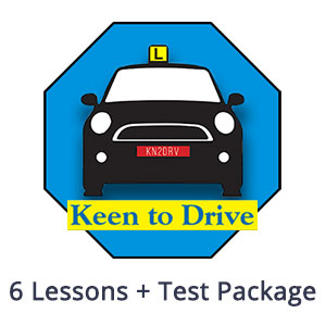 6 Auto Lessons + Test at Keen to Drive