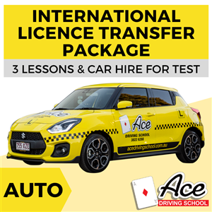 Auto International Licence Transfer Package at Ace Driving School