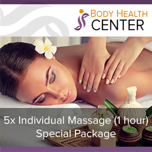 5 x Individual Massage - 1h (Special Package) at Body Health Center