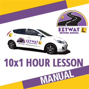 10 x 1 Hour Manual Lesson + FREE HYPNOSIS at Ezyway Driving School