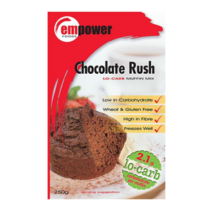 Empower Chocolate Rush Muffin Mix at First Things First Wellness Centre