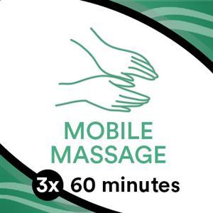 3 x 60 Min Mobile Massage at TRU Massage