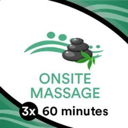 3 x 60 min Massage Goodlife Gym