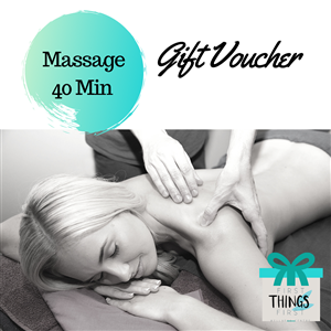 40 Minute Massage Gift Voucher at First Things First Wellness Centre