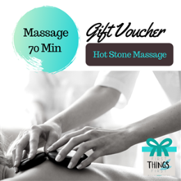 70 Minute Hot Stone Massage Gift Voucher