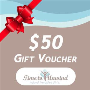 $50 Gift Voucher at Time to Unwind Natural Therapies Clinic