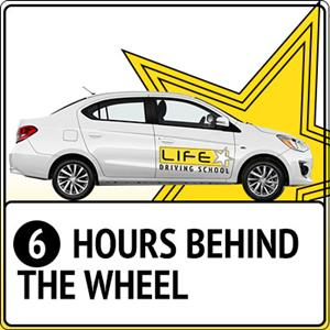 <p>The package contains: 6 x 1 hour Behind The Wheel driving lessons</p>