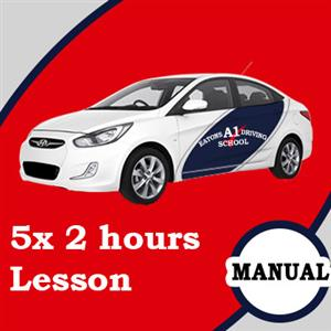 Manual Lessons 5 x 2 Hour at Eatons A1 Driving School