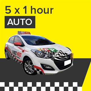 Auto Lessons - 5 x 1 Hour at BestWest Driving School