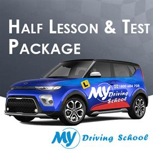 30 Min Lesson + Car Hire for Test Manual at My Driving School