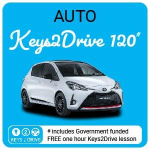 2.0 Hour Lesson inc. FREE Keys2Drive  (auto) at L PASSO Driving School