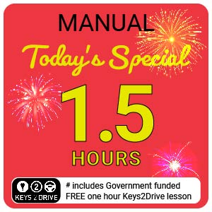 'Crazy' Special inc. FREE Keys2Drive (manual) at L PASSO Driving School