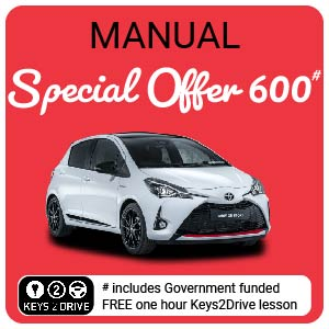 10 Hour Special 600 inc. FREE Keys2Drive (manual) at L PASSO Driving School