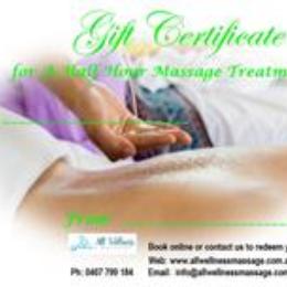 Gift Certificate 30 Min Massage